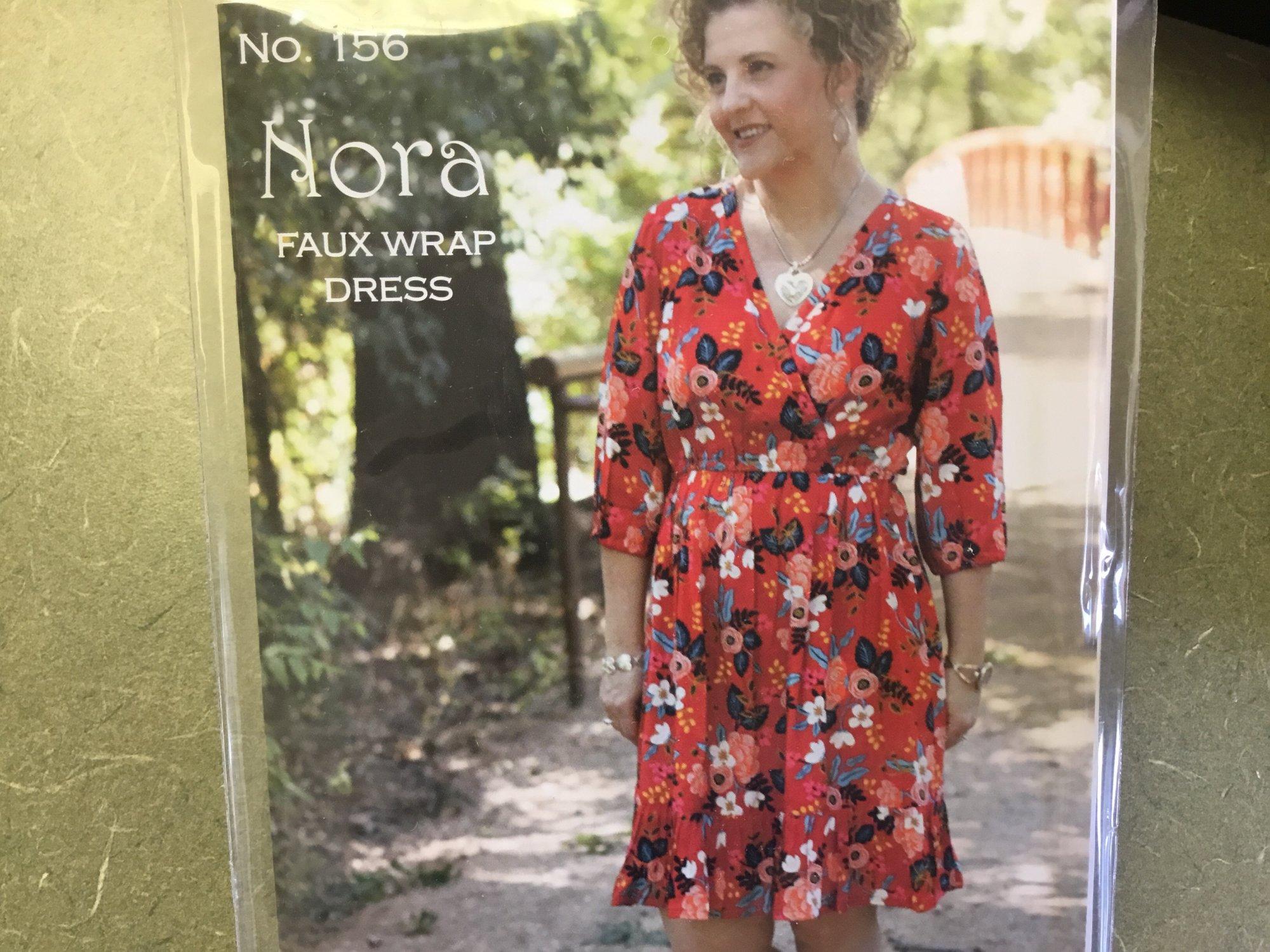 NORA FAUX WRAP DRESS PATTERN by Serendipity Studio 156