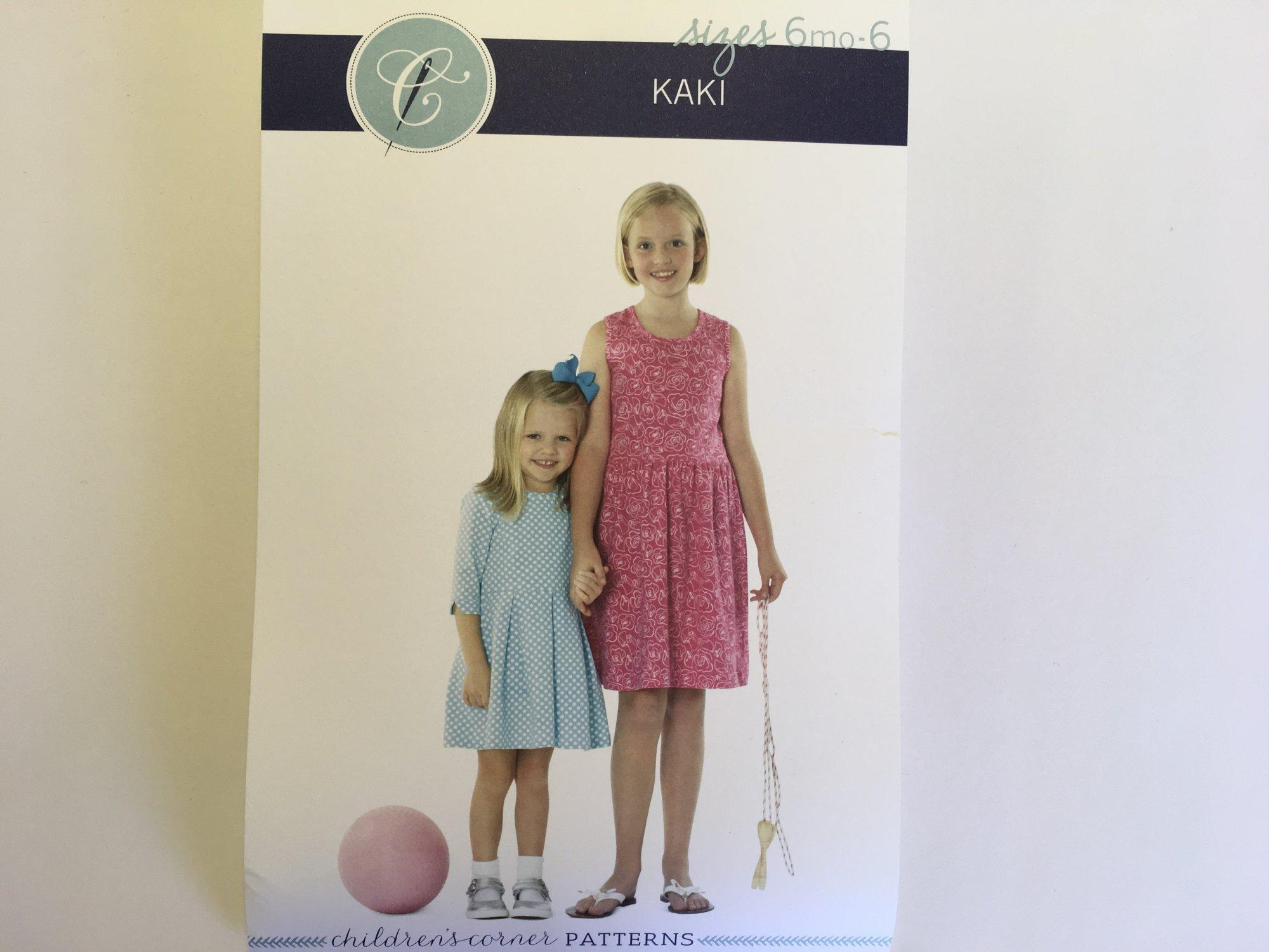 KAKI DRESS PATTERN by Childrens Corner  (size 6 months - 6 years)