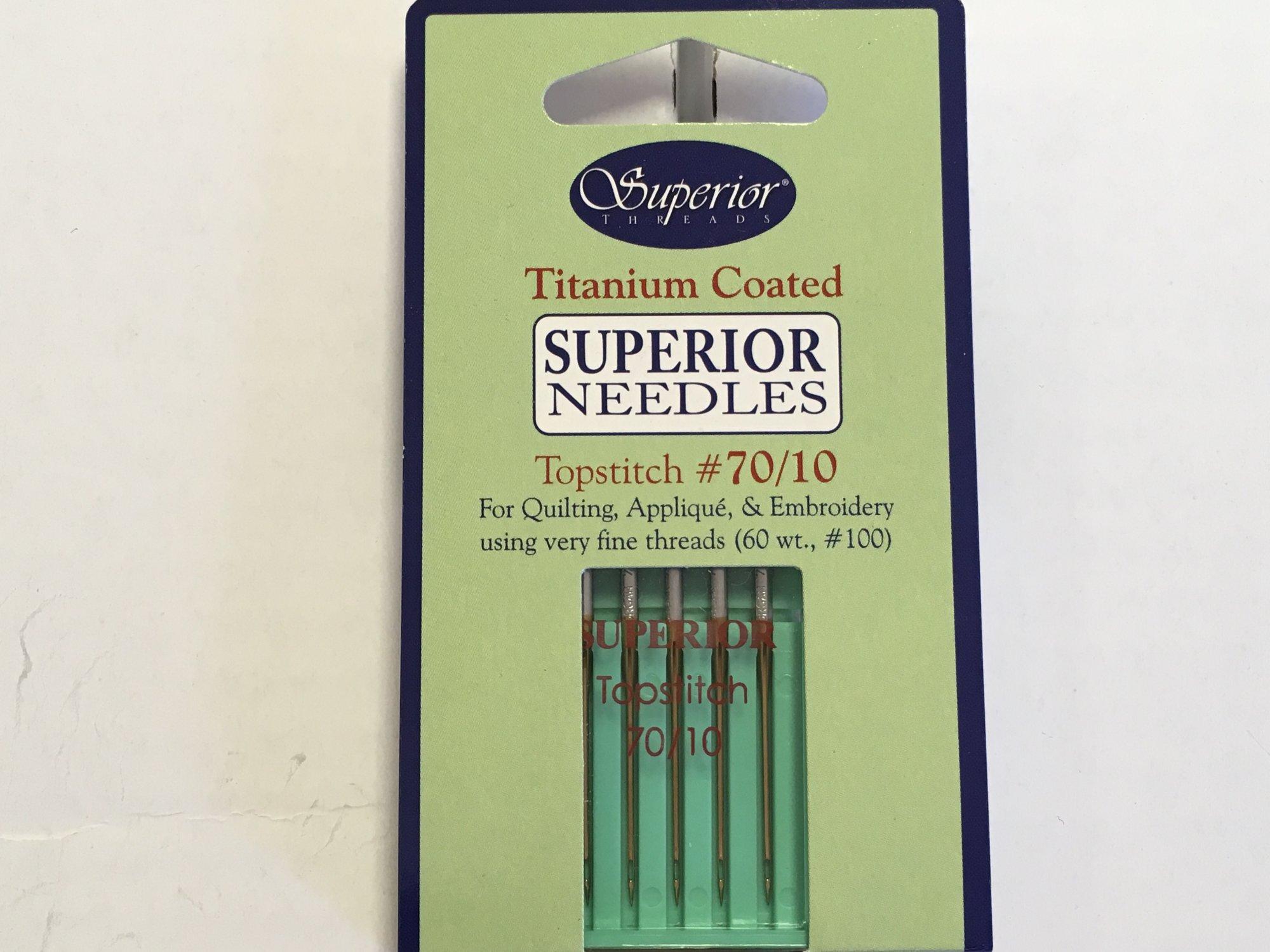 Superior 70/10 Titanium Machine Needles