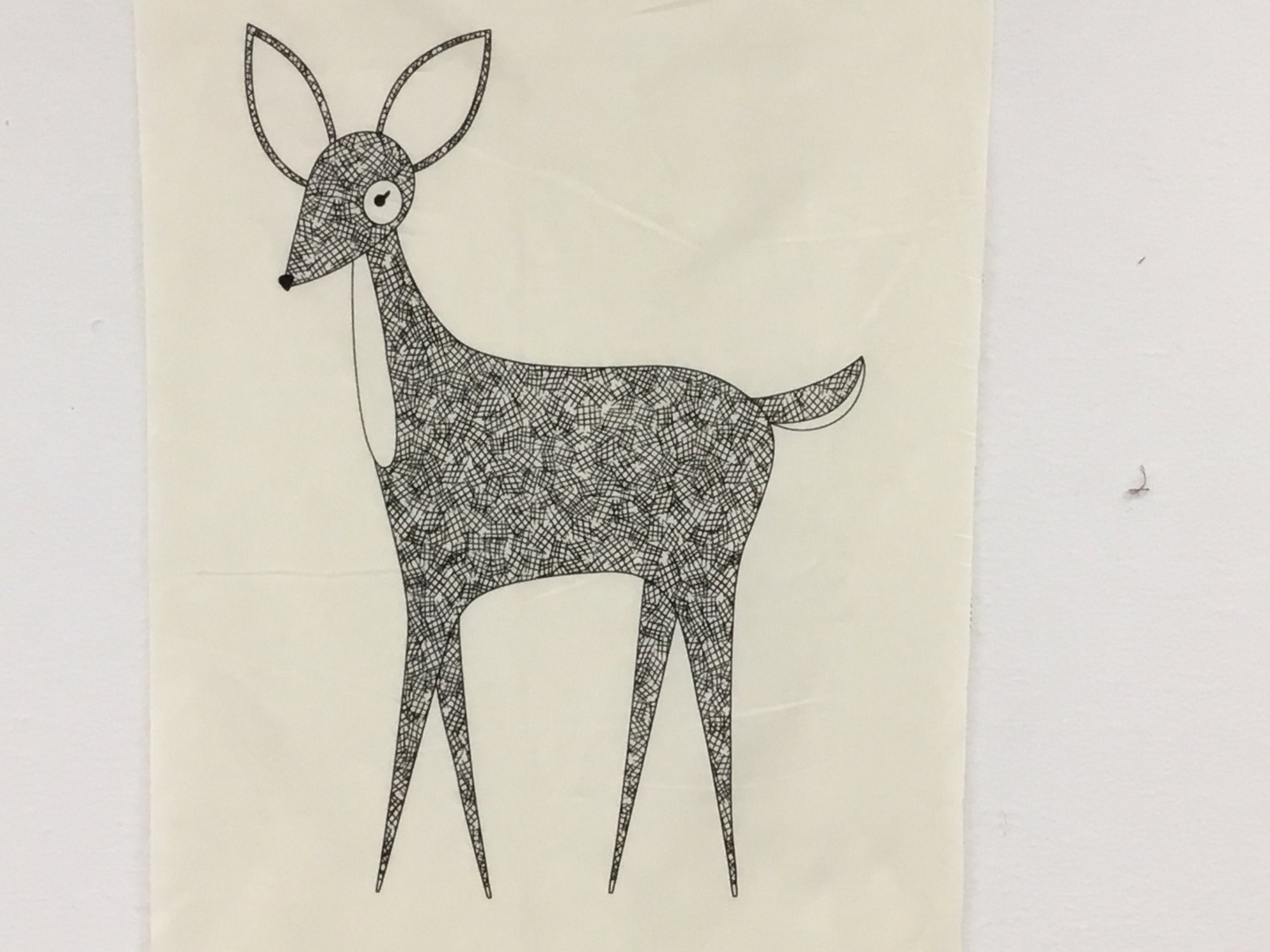 BRAMBLE DEER PANEL (20.5 X 21 INCHES) - GINGIBER by Moda