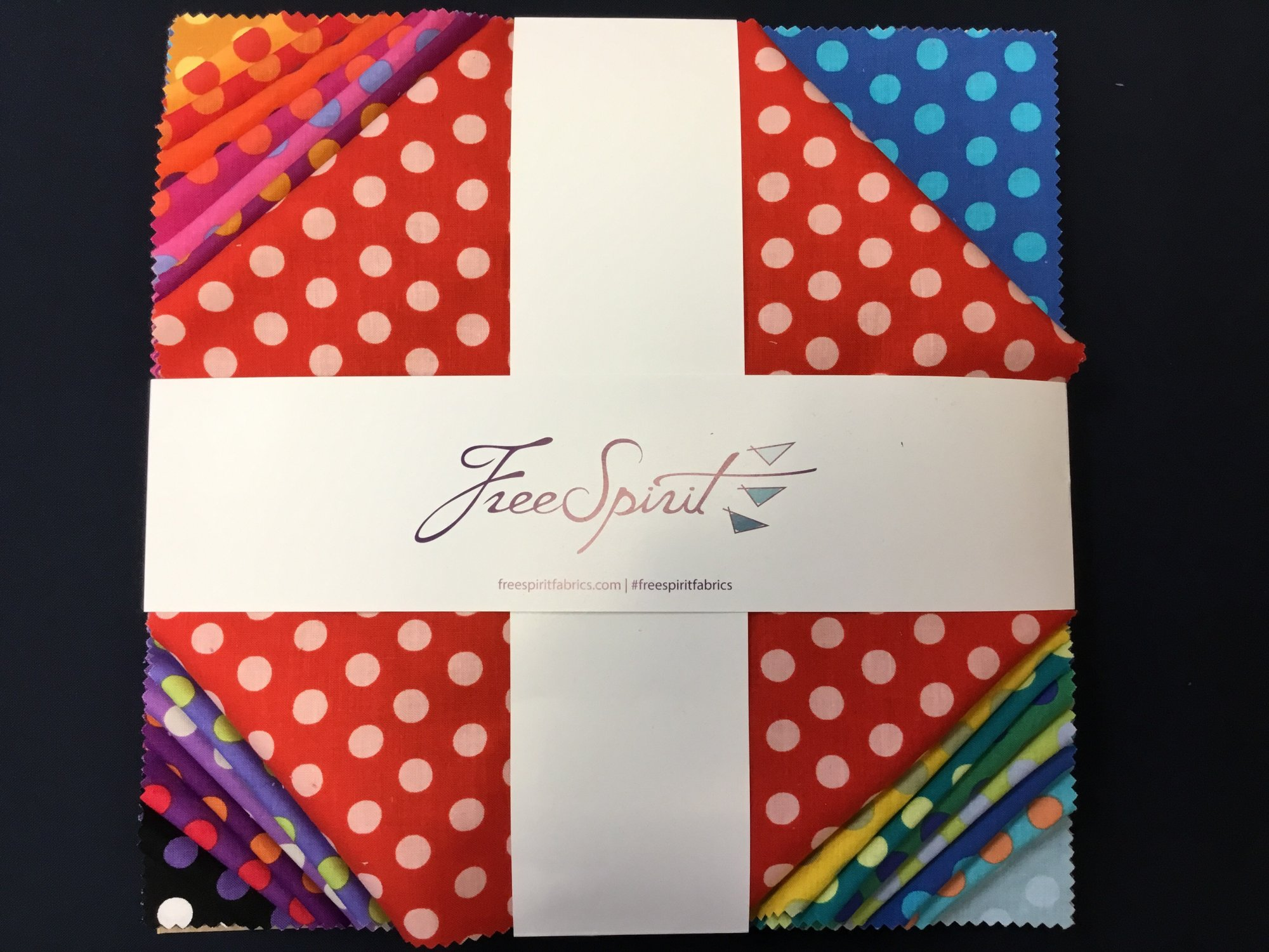 CANDY DOTS (42) 10 INCH SQUARES by Kaffe Fassett