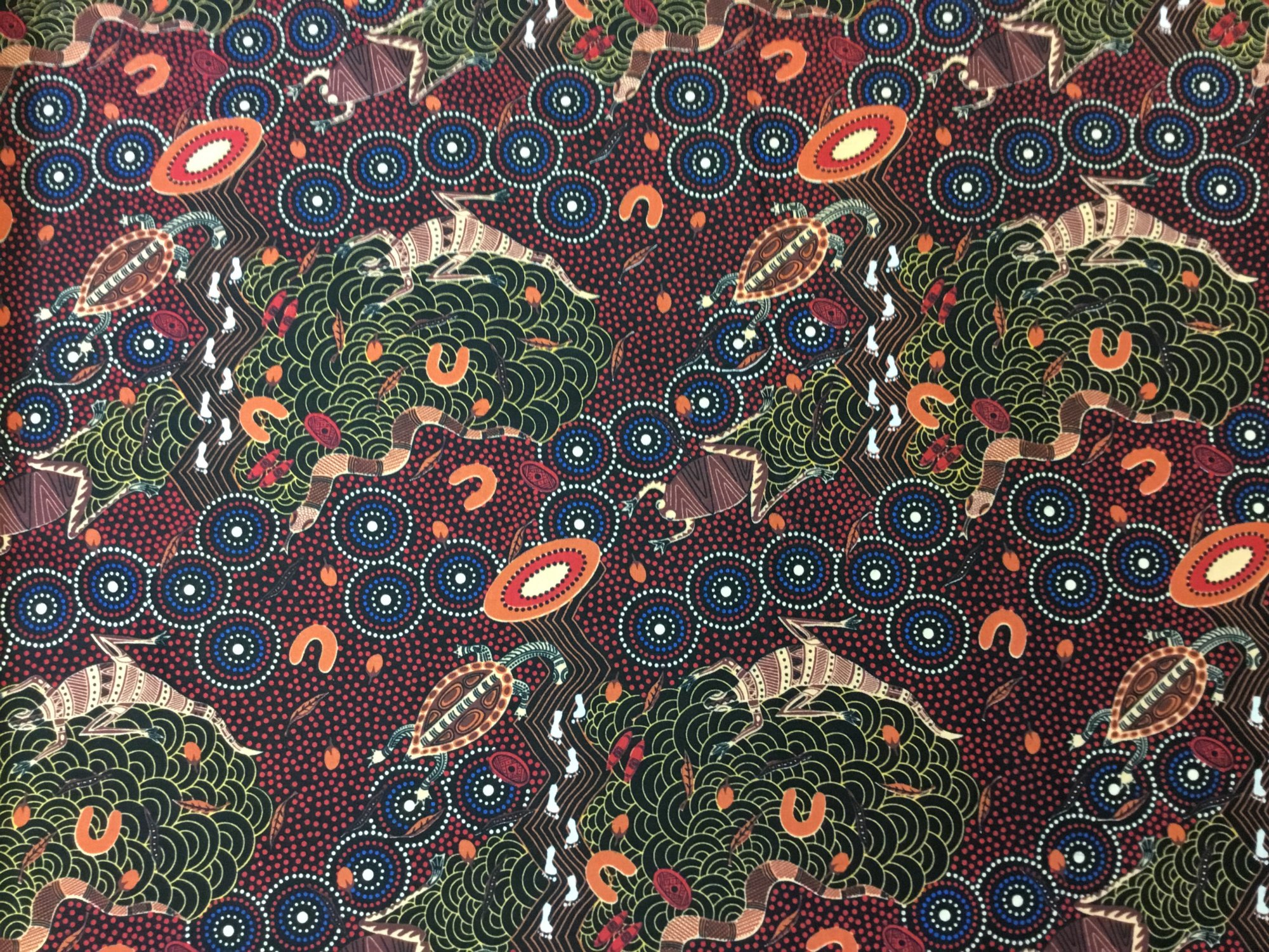 AROUND WATERHOLE RED AWR by M&S Textiles