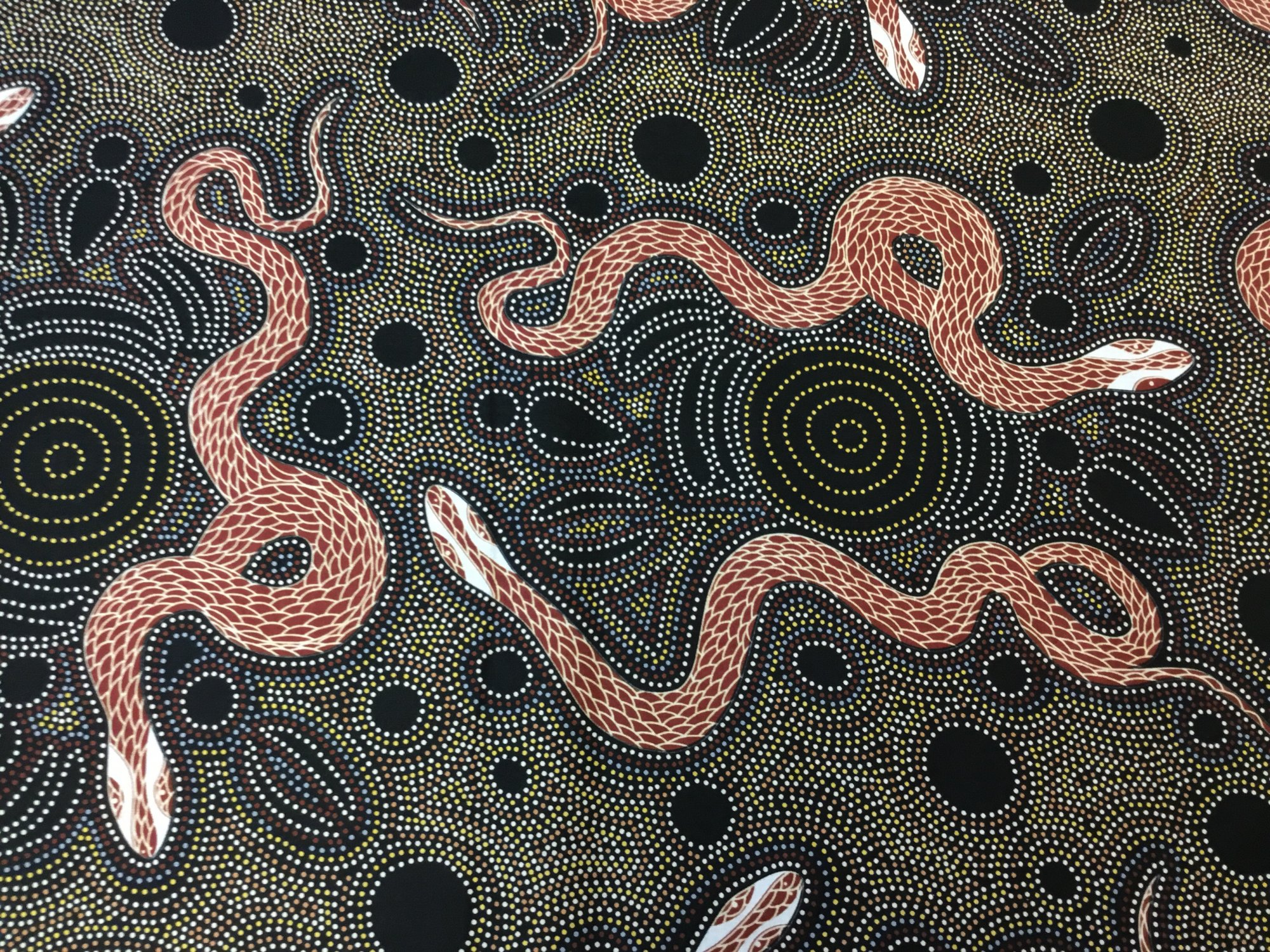SNAKE AND EMU CHARCOAL by M&S Textiles
