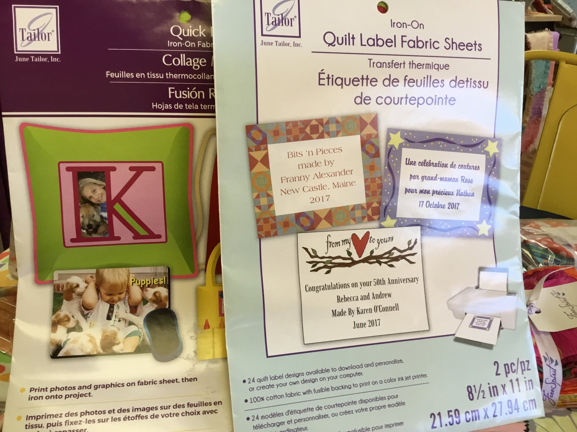 June Tailor Iron On Quick Label Fabric Sheets