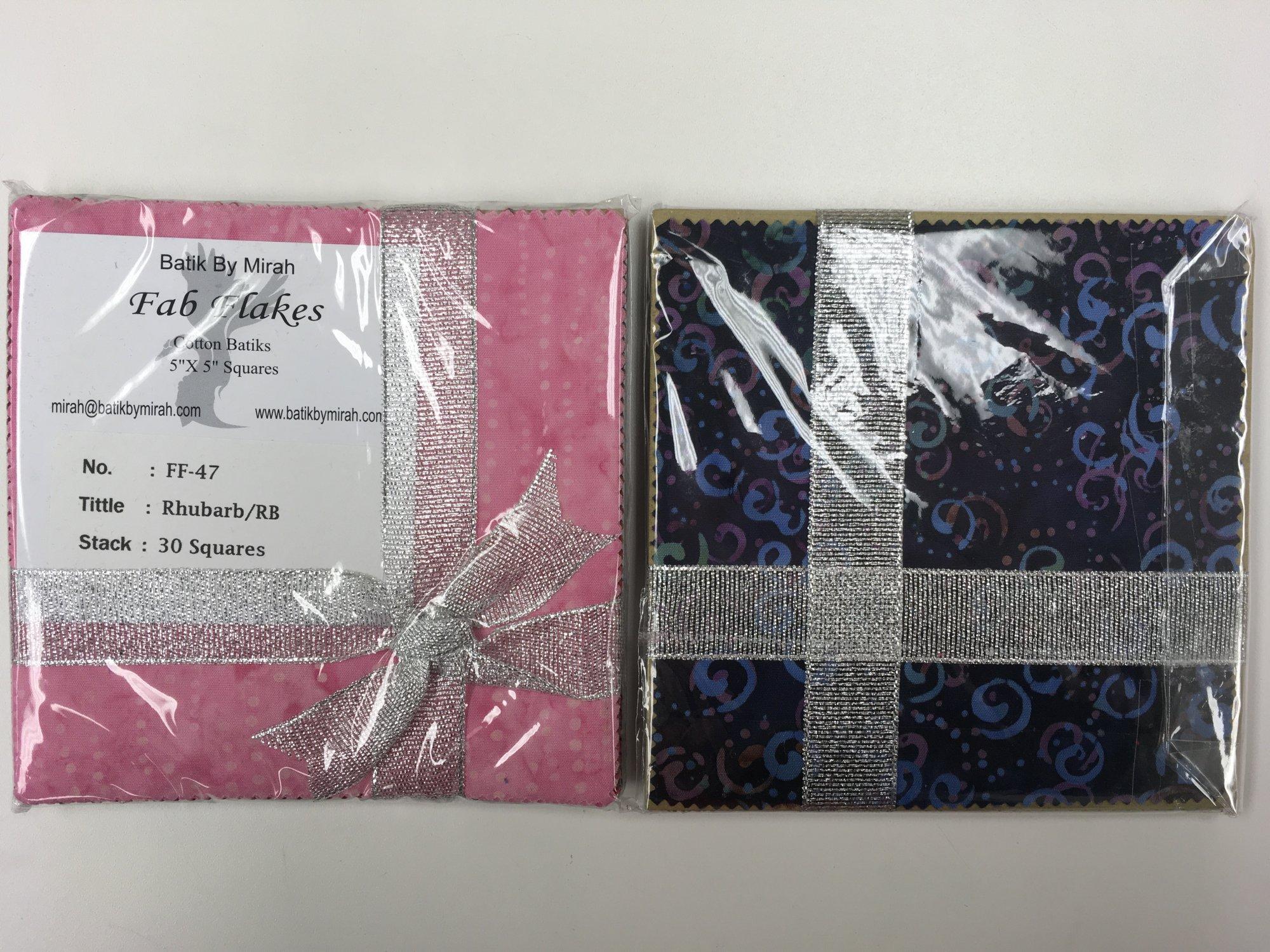 BATIK RHUBARB FAB FLAKES 5 in Squares 24/pack FF47 Batik by Mirah