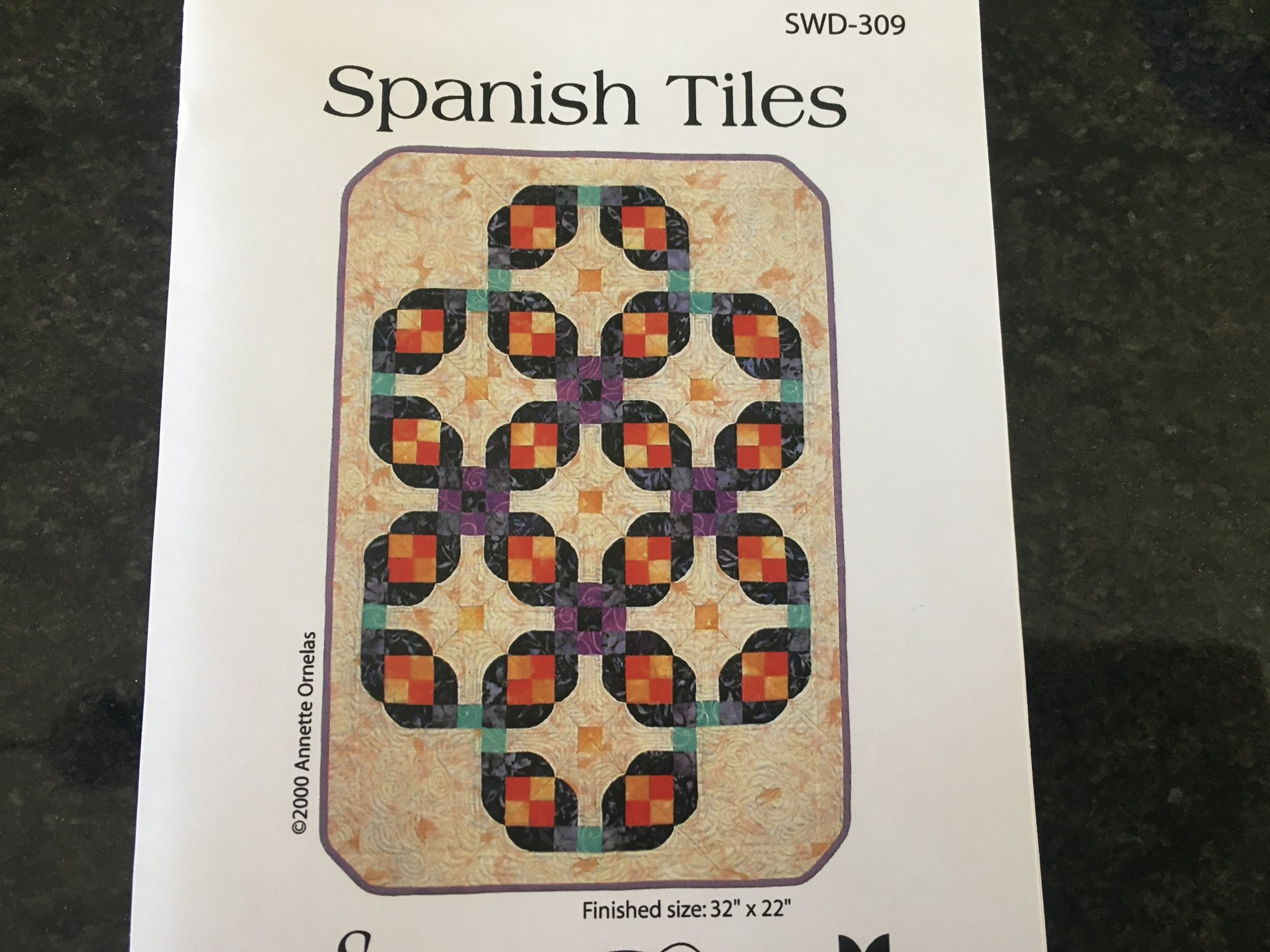 SPANISH TILES QUILT PATTERN SWD309 Southwind Designs