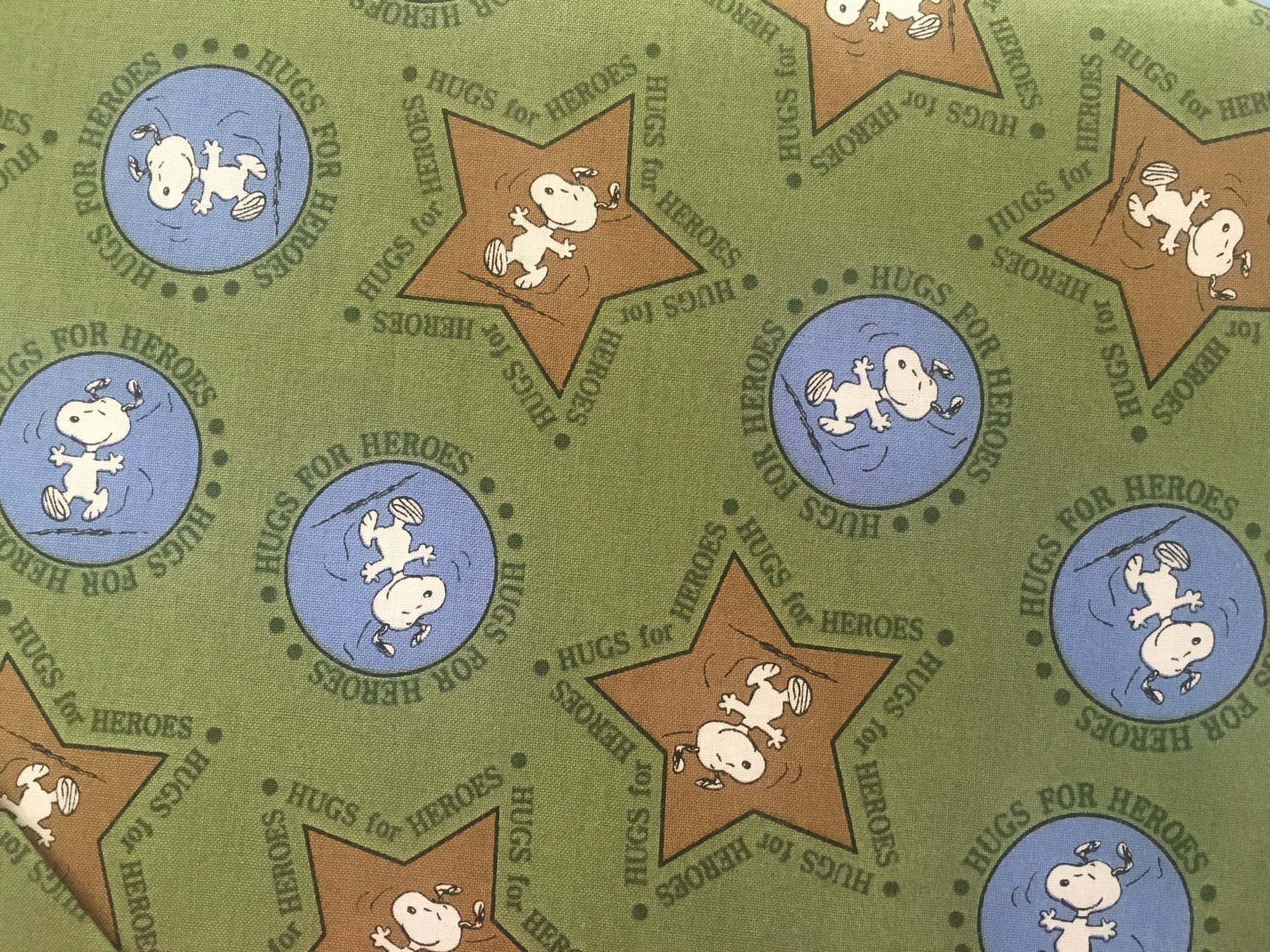 HUGS FOR HEROES MAIN GREEN 22772G Quilting Treasures QT