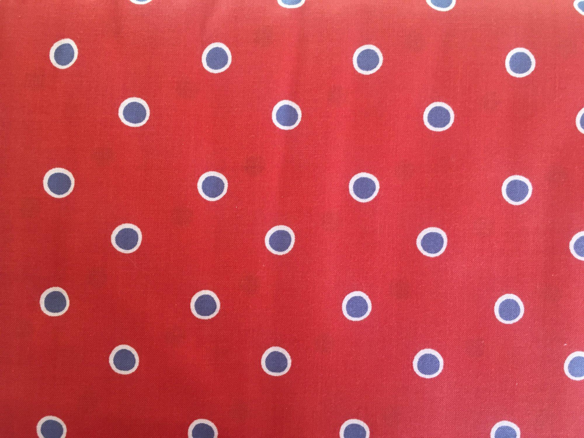 FOX PLAYGROUND DOTS RED/WHITE/BLUE PWDF190 Free Spirit