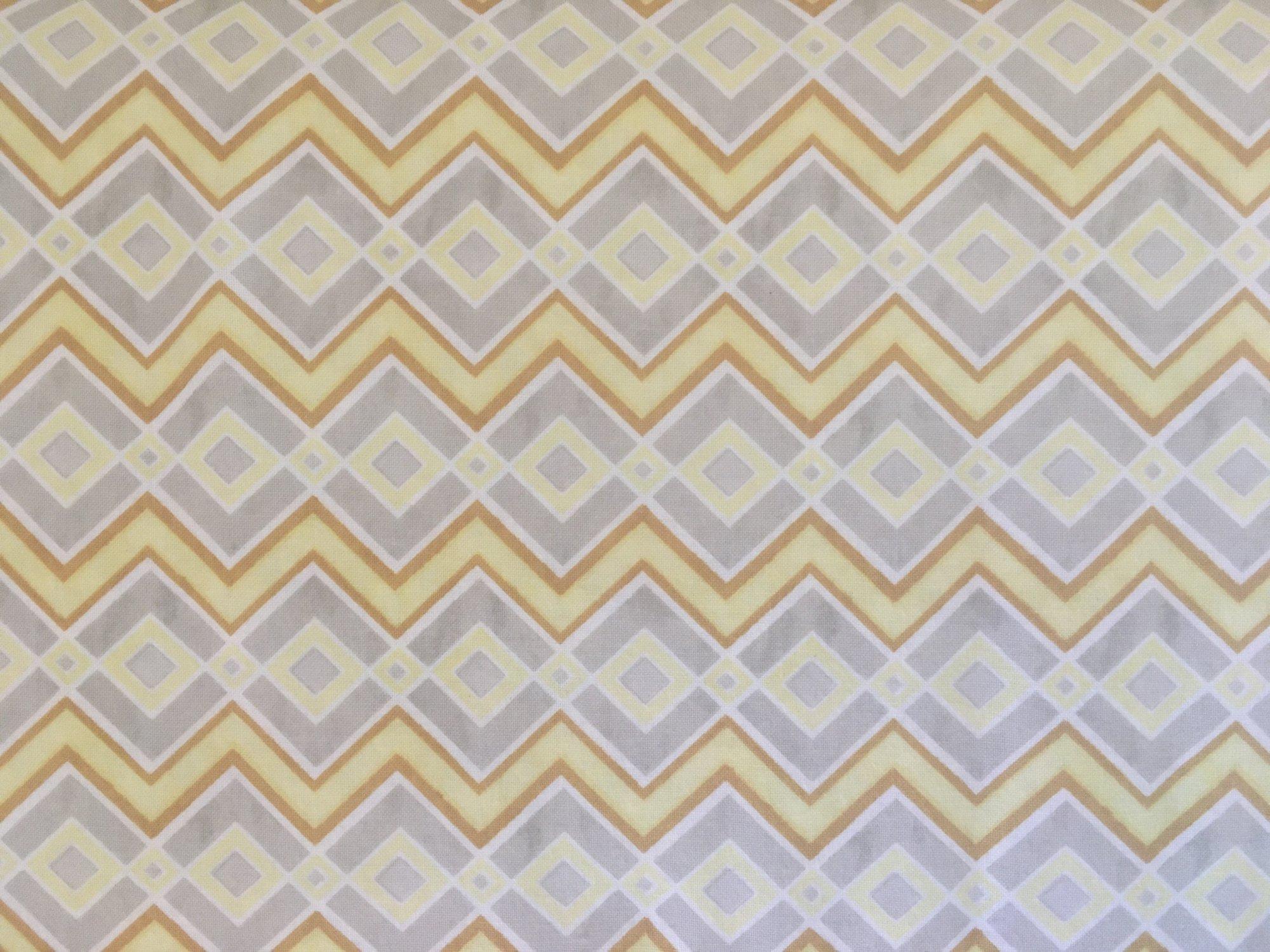 FELICITY YELLOW/GOLD/GREY CHEVRON 42380195 Wilmington Prints