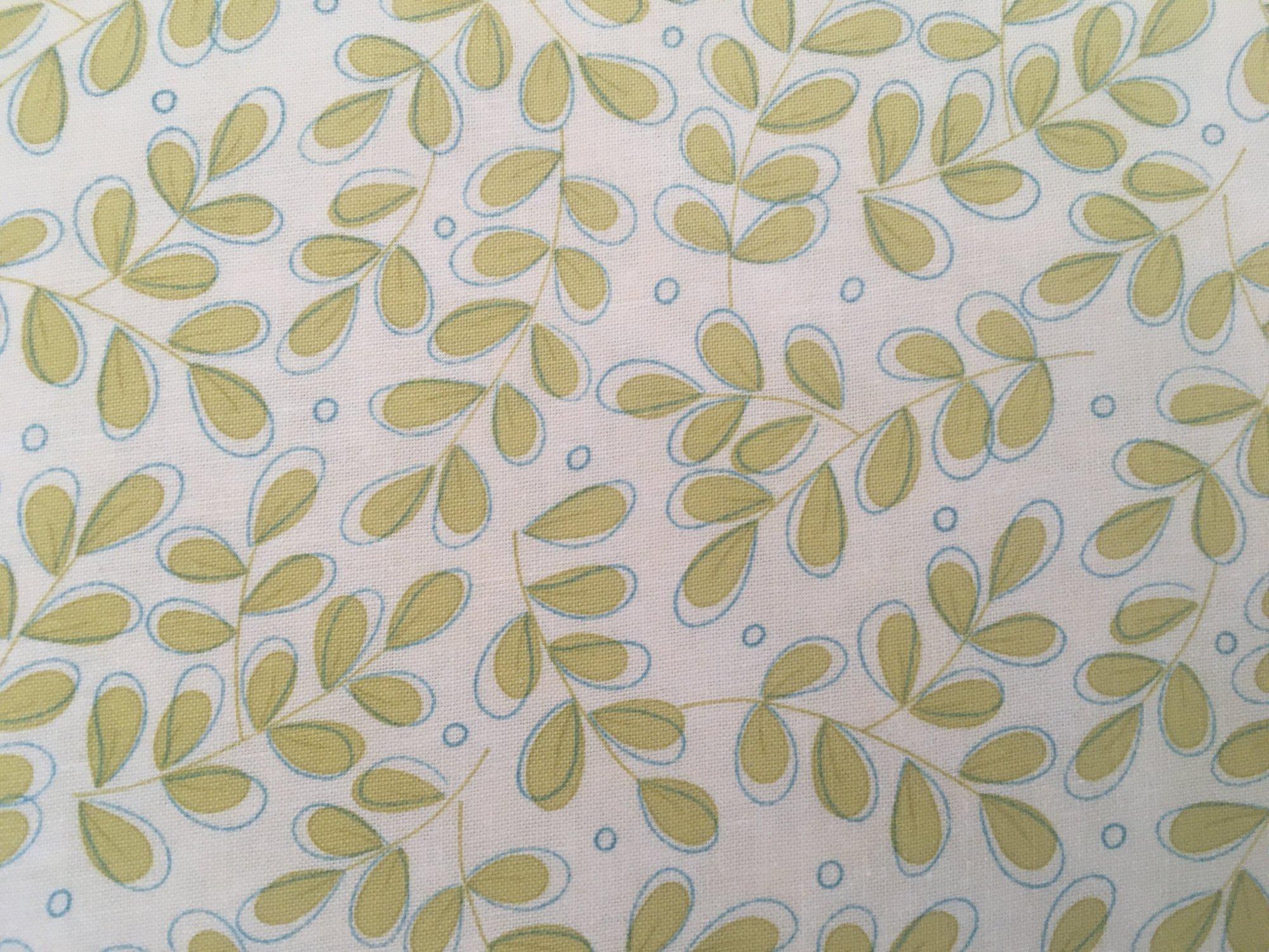 SOHO CHIC SPRING GREEN LEAVES ON CREAM 1774311 Moda