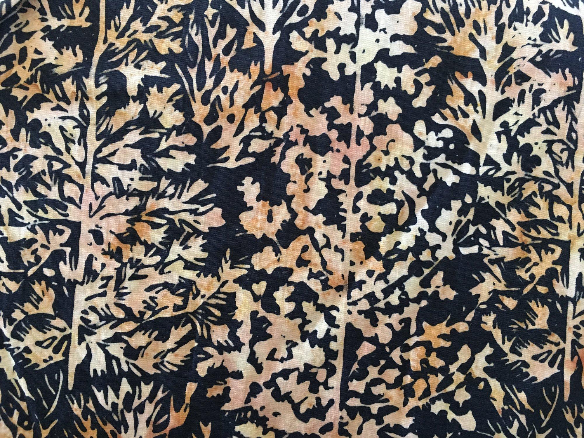 BATIK CREAM/BLACK TREES HS14CC1 Island Batik