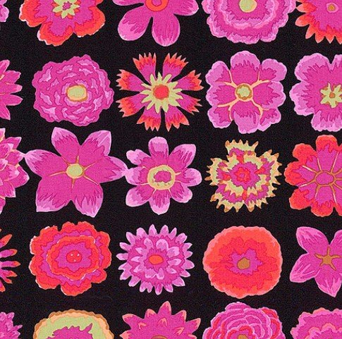 Button Flowers Black PWGP152