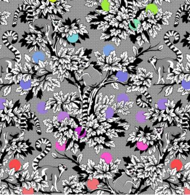 Tula Pink Linework Lemur Me Alone