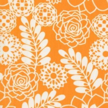 Bukhara Stencil Floral-Orange