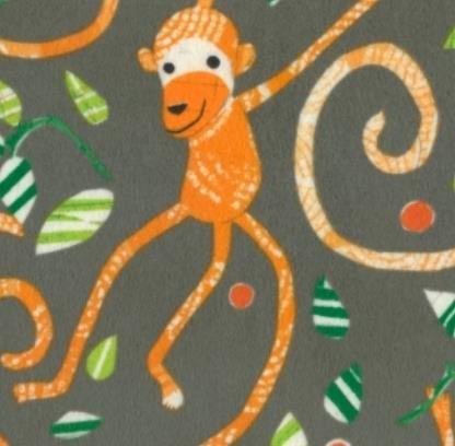 Play Date Monkeys-Charcoal