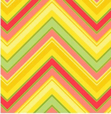 Pop Garden Zag Stripe-Gold