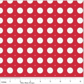 Sew Cherry Sew Dots-Red