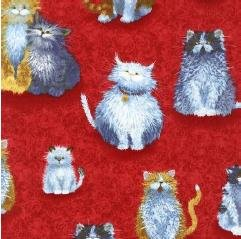 Whiskers & Tails Cats-Red
