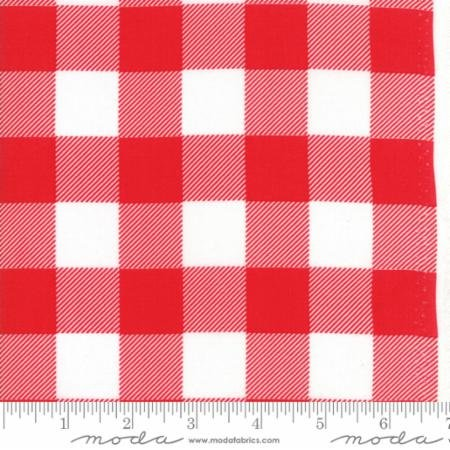 Buffalo Check Backing Red & White