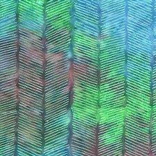 Herringbone Fuchsia Green Blue
