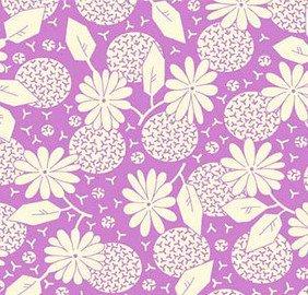 Feedsack Dandelions Purple FEED 645 C