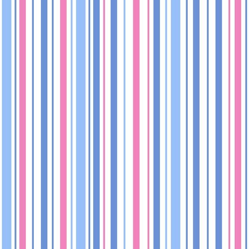 Ruby's Treasures Stripe Blue/Pink 120-12611