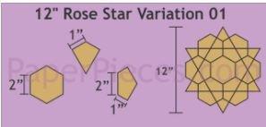 12 Rose Star - 6 Blocks Var 1