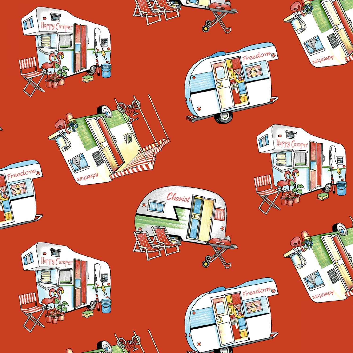 Red/Multi Tossed Campers