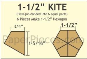 1 1/2 Kite 150 Pieces