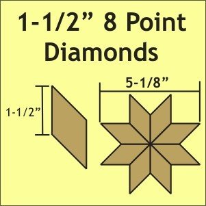 1 1/2 8 Point Diamonds Small Pack 100 Pieces