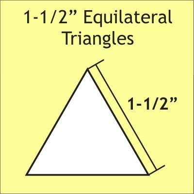 1 1/2 Equilateral Triangle 75 Pieces