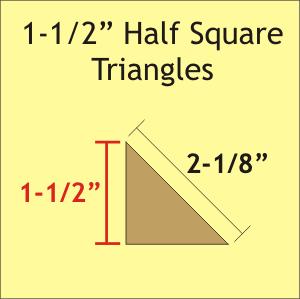 1 1/2 Half Square Triangle 140 Pieces