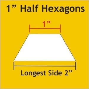 1 Half Hexagon  - 100 Pcs