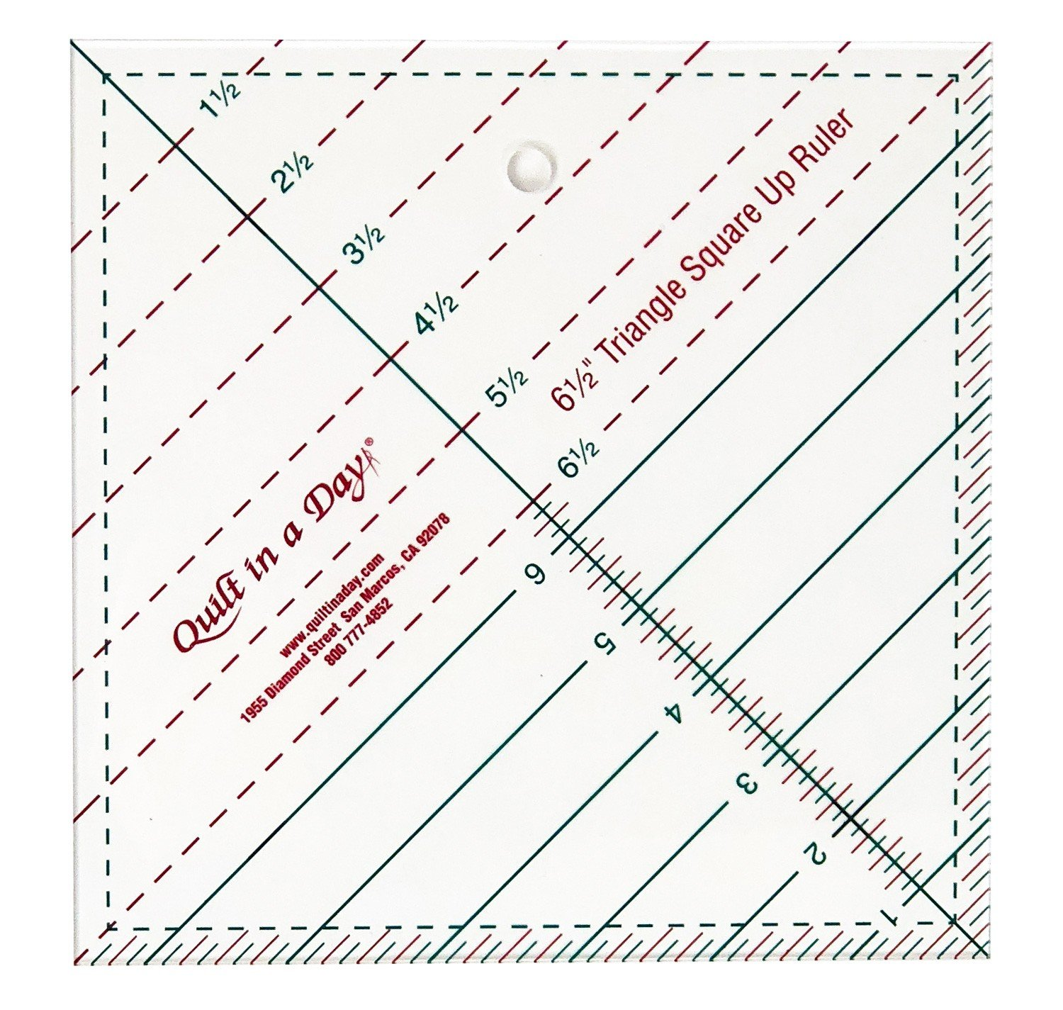 Triangle Square Up Ruler 6 1/2 in