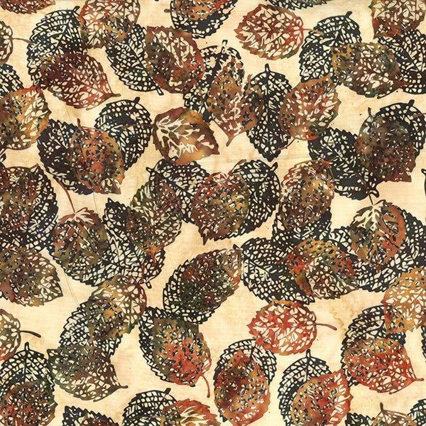 Bali Batiks Leaves Amber Q2133-36