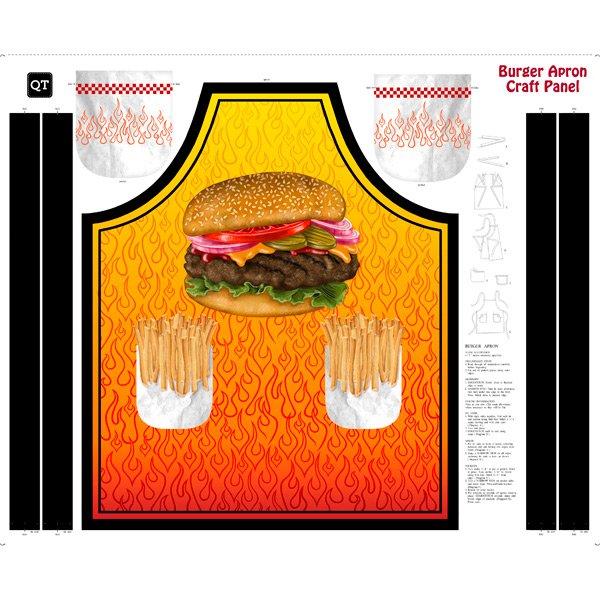 Burger Apron Panel