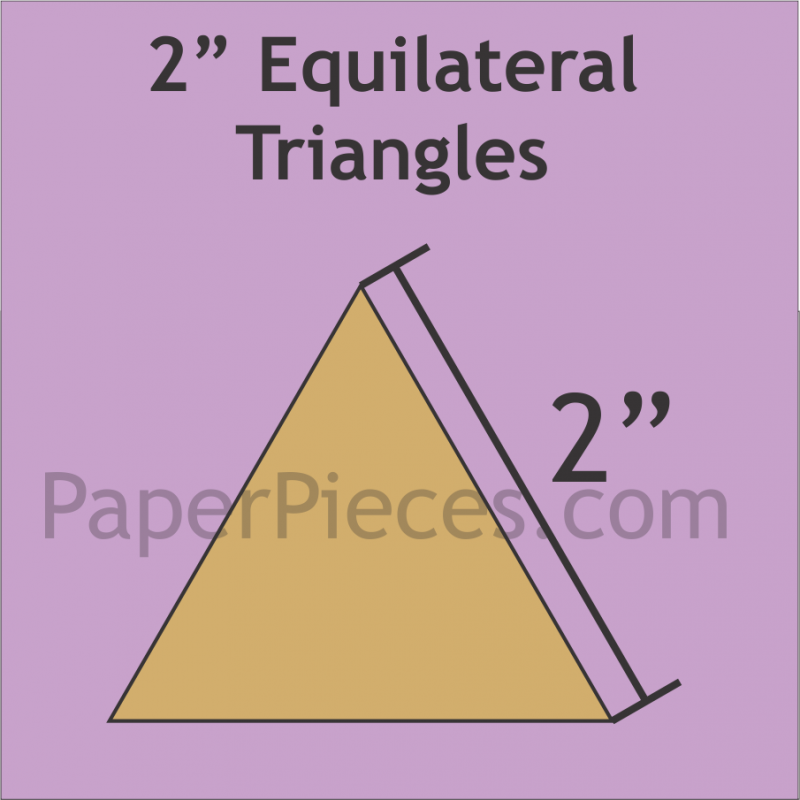 2 Equilateral Triangle 75 Pieces