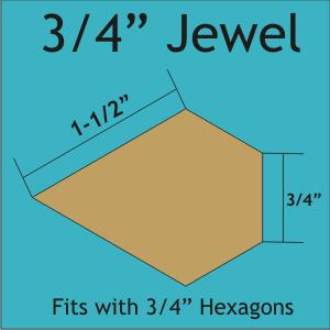 3/4 Jewel (Laser) - 84 Pcs