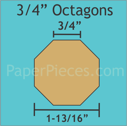 3/4  Octagons 80 Pieces
