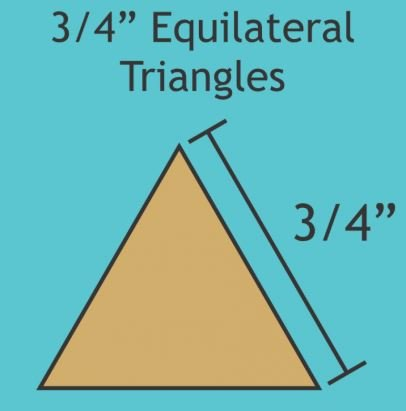 3/4 Equilateral Triangles - 100 Pcs