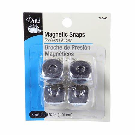 3/4 Magnetic snaps - gold 1 set
