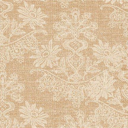 Coffee Break Floral Texture Beige