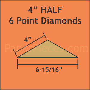 4 HALF 6 Point Diamonds Small Pack 32 Pieces