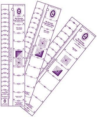 Marti Michell Log Cabin Ruler 1 & 2  6888A