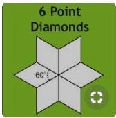 2 6 Point Diamonds Acrylic Fabric Cutting Template