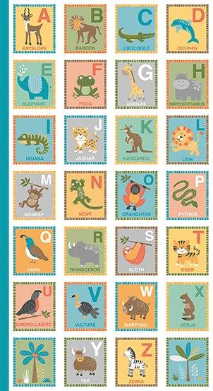 Jungle Friends Alphabet Panel