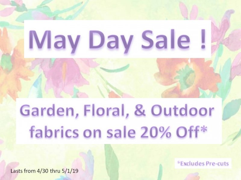 May Day Sale!