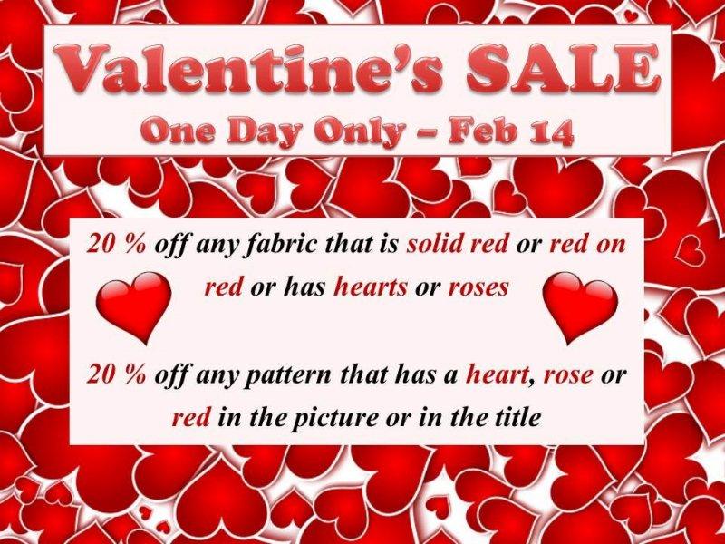 V day sale