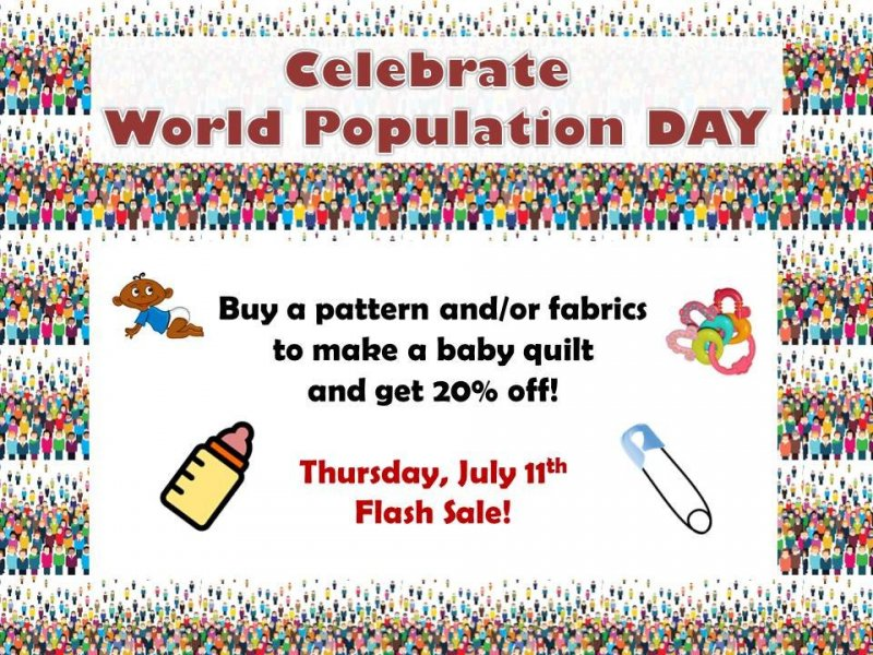 World Population Day Sale