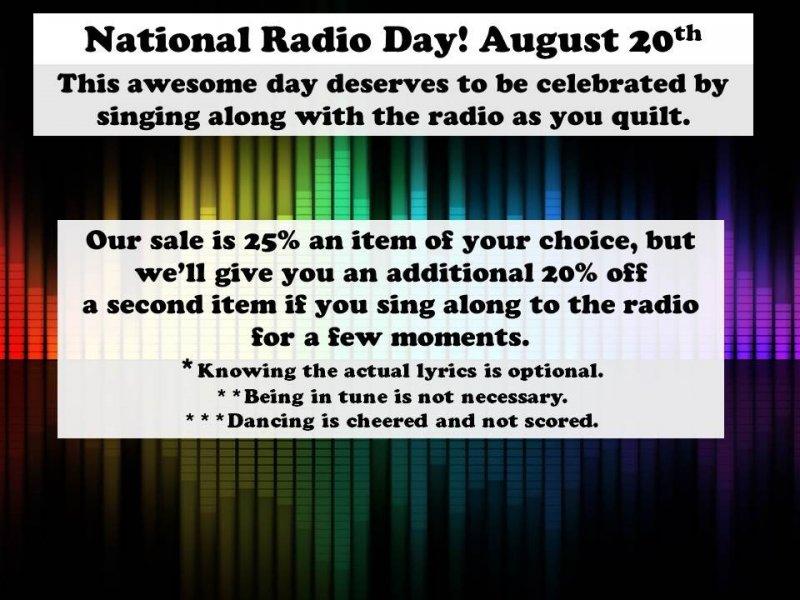 national Radio Day Sale